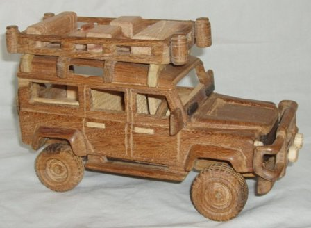 wooden landrover